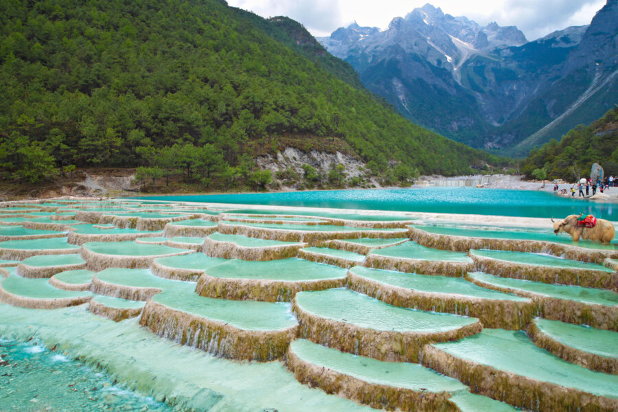 sichuan tour package: explore sichuan nature and amazing blue water waterfalls